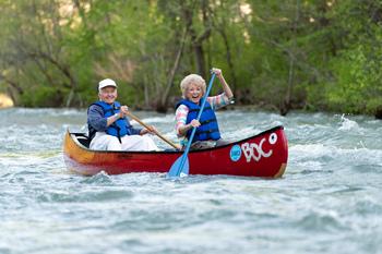 Canoeing at Buffalo Outdoor Center.