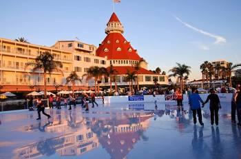 Ice skating at The Sofia Hotel.