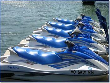 Jet skis at Robin's Resort.