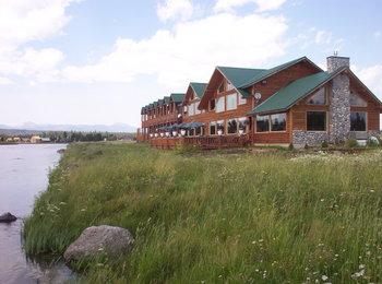 Resort view at The Angler's Lodge.