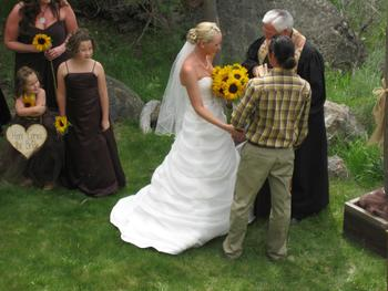 Wedding at Aspen Ridge Resort.