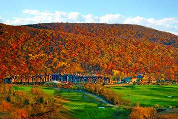 Fall at Grand Cascades Lodge at Crystal Springs Resort.