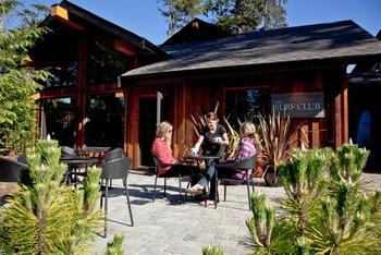 Resort patio view at Long Beach Lodge Resort.