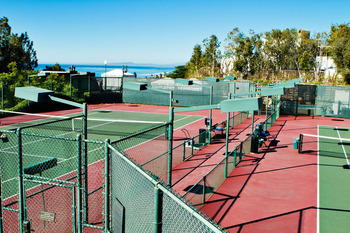 Tennis Courts at the Villa L'Auberge
