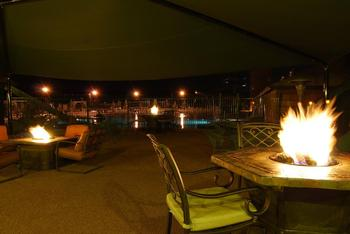 Fireside dining at Fairmont Hot Springs Resort.