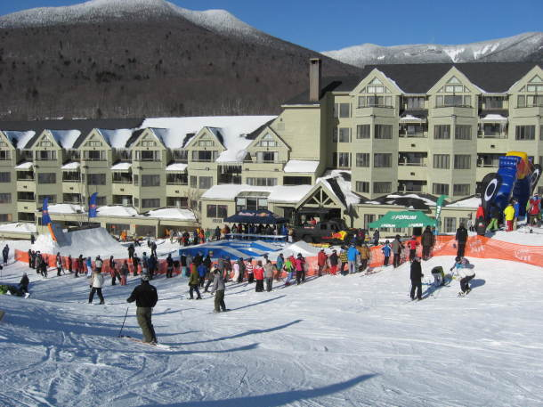 Skiing at The Mountain Club.
