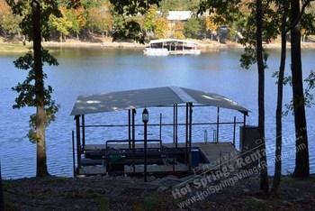 Boat dock at Hot Springs Village Rentals.