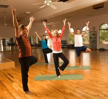 Fitness classes at Red Mountain Resort.