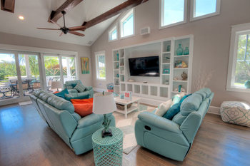 Rental living room at Anna Maria Vacations.