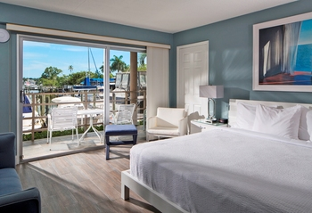 Guest room at Cove Inn on Naples Bay.