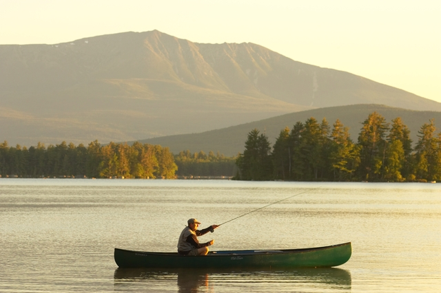 Millinocket Lake Fishing Fishing on The Lake at New