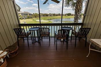 Rental balcony view at Sterling Resorts.