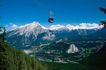 Banff Gondola near Johnston Canyon Resort.