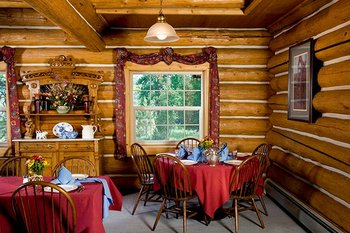 Cabin interior at Aspen Ridge Resort.