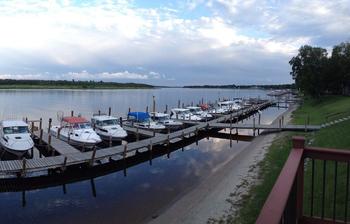 Dock at Ballard's Resort.