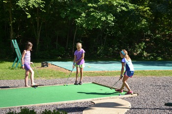 Mini golf at YMCA Trout Lodge & Camp Lakewood.