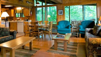 Cabin Interior at Ludlow's Island Resort