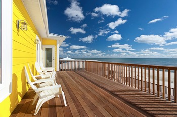 Rental deck view at Fort Morgan Realty.