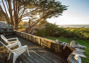 Rental deck at Sea Ranch Lodge Vacation Rentals.