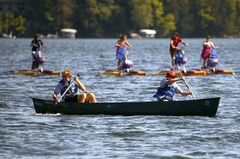 Canoe activities at Cragun's Resort.