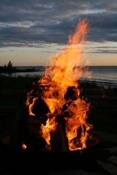 Bonfire at The Shallows Resort