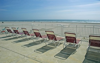 Beach chairs at Coliseum Ocean Resort.