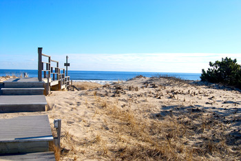 The beach at Ocean Vista Resort.