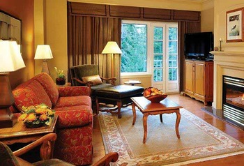 Guest suite at The Fairmont Chateau Whistler.
