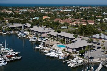 Aerial View of Cove Inn on Naples Bay