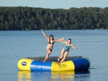 Water trampoline at Auger's Pine View Resort.