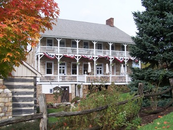 Exterior view of Jean Bonnet Tavern.