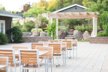 Outdoor dining at Crust Italian Eatery at The Sullivan.