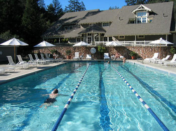 Outdoor pool at Meadowood Napa Valley.
