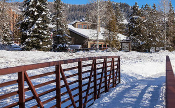 Snowy View of The Lodge at Steamboat