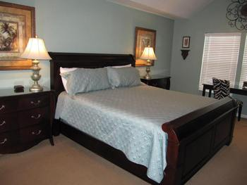 Vacation rental bedroom at Newman-Dailey Resort Properties, Inc.