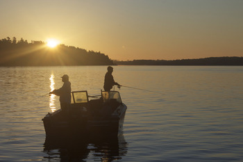 Fishing By Sunset at Pehrson Lodge Resort