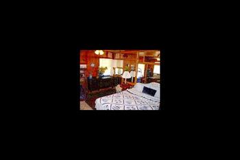 Guest room at Pine Rose Inn.
