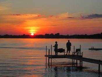 Fishing at Dickerson's Lake Florida Resort.