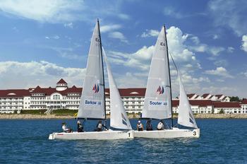 Sailing at Blue Harbor Resort and Spa.
