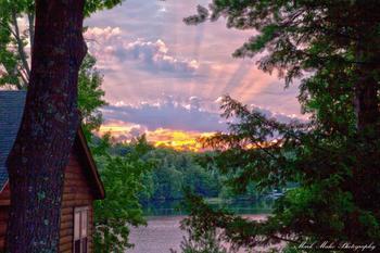 Sunrise at Virgin Timber Resort.