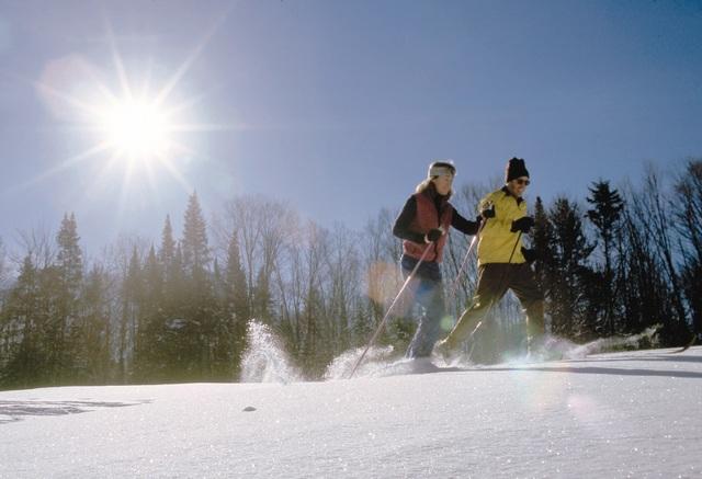 Cross country skiing at Owaissa Club Vacation Rentals.