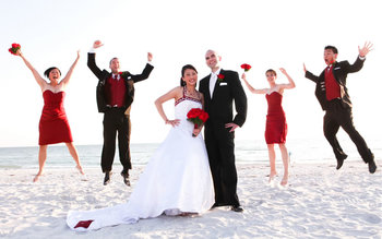 Wedding party at Guy Harvey Outpost Resort.