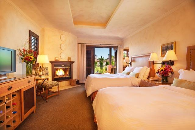 Guest room at Villagio Inn and Spa.