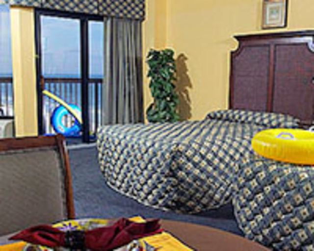 Guest bedroom at Compass Cove Resort.