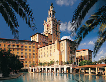 Exterior view of Biltmore Hotel & Resort.