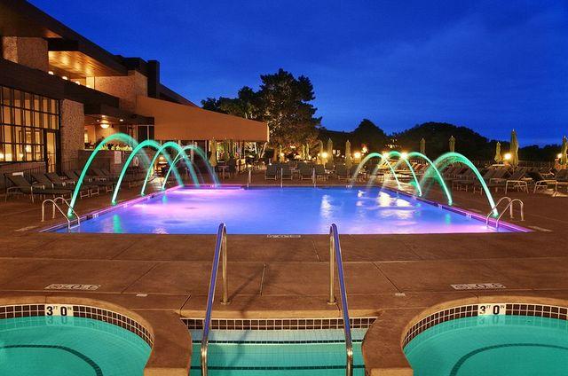 Outdoor pool at Holiday Inn Club Vacations Lake Geneva Resort.