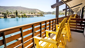 Balcony view at Lake San Marcos Resort & Country Club.