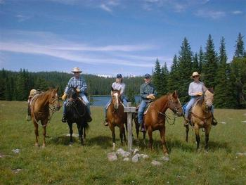 Horseback riding at Montana High Country Lodge.