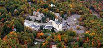 Aerial view of The Inn at Pocono Manor.