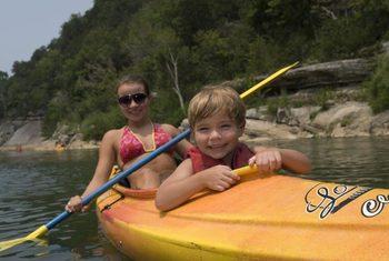 Kayaking at Buffalo River Outfitters.